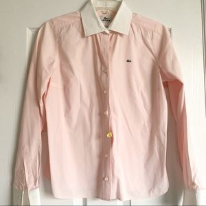 Lacoste Pink Button Down Blouse